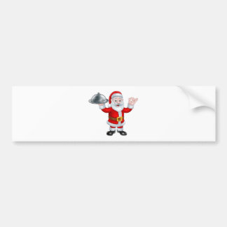 Santa Claus with Christmas Food Plate Bumper Sticker