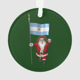Santa Claus With Ensign Of Argentina