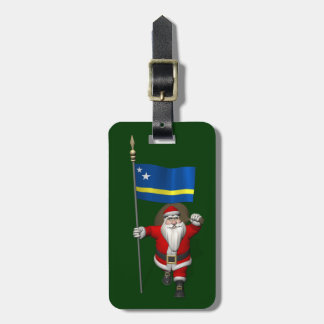 Santa Claus With Ensign Of Curaçao Bag Tag