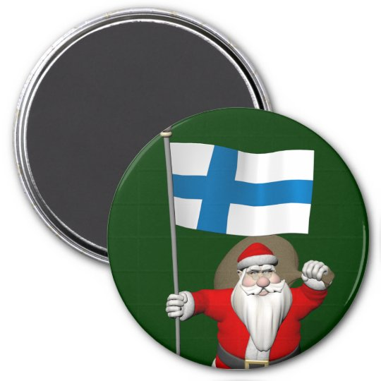 Santa claus with ensign of finland magnet zazzle