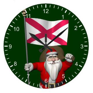 Santa Claus With Ensign Of Northern Ireland Wallclocks