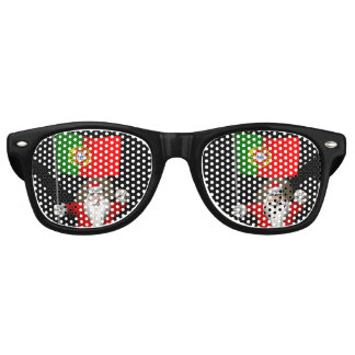 Santa Claus With Ensign Of Portugal Retro Sunglasses