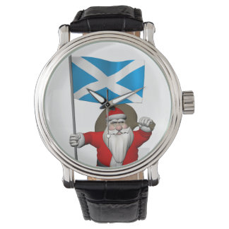 Santa Claus With Ensign Of Scotland Watch