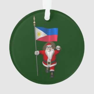 Santa Claus With Ensign Of The Philippines Ornament