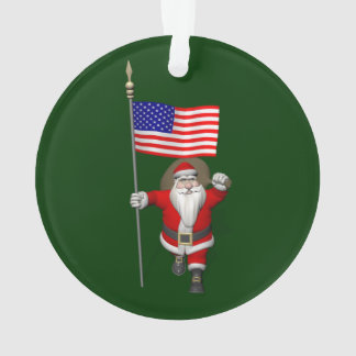 Santa Claus With Ensign Of The USA