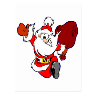 Santa Claus With Gifts Postcards