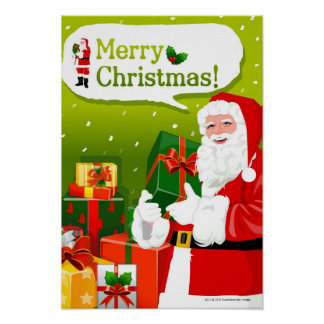 Santa Claus with gifts Poster