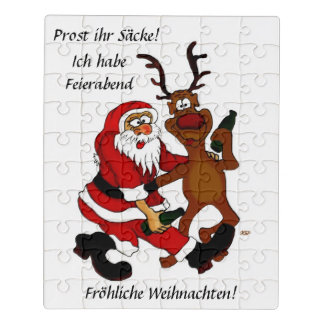 Santa Claus with Moose Jigsaw Puzzle