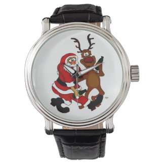 Santa Claus with moose Watch