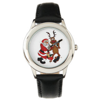 Santa Claus with moose Watches