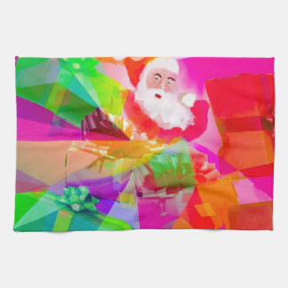 Santa Claus With multicolor gifts Kitchen Towel