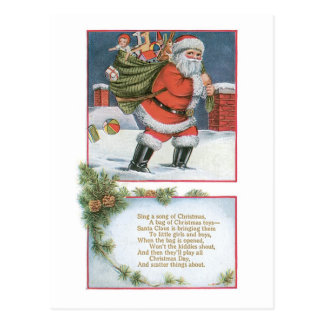 Santa Claus with Presents Post Card