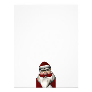 Santa Claus With Red Mustache Customized Letterhead