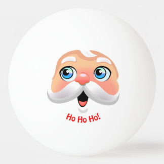Santa Claus With Rosy Cheeks Ping Pong Ball