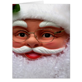 Santa Claus with sociable laugh Card
