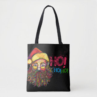 Santa Claus with Text Tote Bag