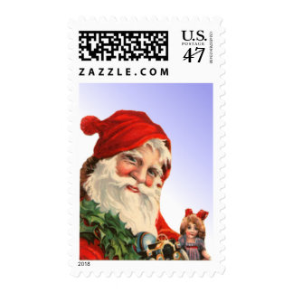 Santa Claus with Toys Stamp