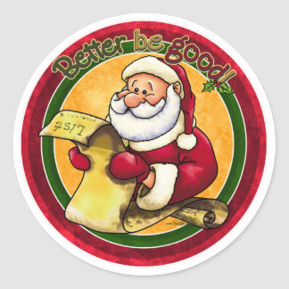 Santa Clause Classic Round Sticker