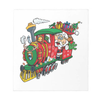 Santa Clause coming to town on his Locomotive Notepad