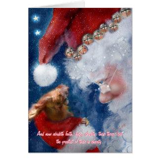 Santa Clause Orangutan Christmas Greeting Cards