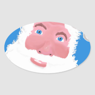 Santa Clause Oval Sticker