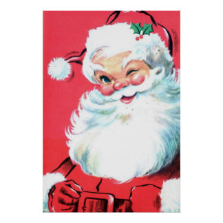 Santa Clause Poster Wall Art for Christmas