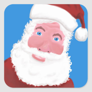 Santa Clause Square Sticker