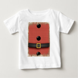 santa clause suit with belt buttons baby T-Shirt