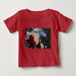 Santa Clause Waving Baby T-Shirt