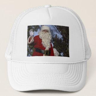 Santa Clause Waving Trucker Hat