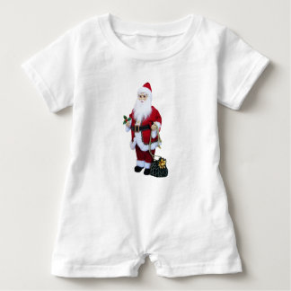 Santa Clause with Bag Baby Romper