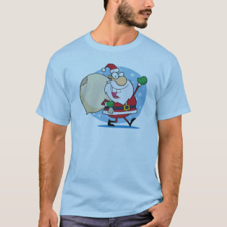 Santa Clause with sack christmas holiday design T-Shirt