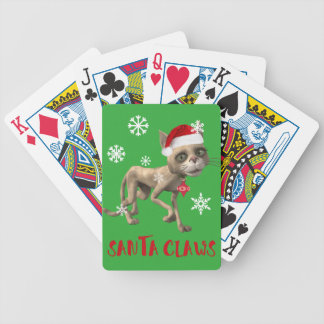 SANTA CLAWS! BICYCLE PLAYING CARDS