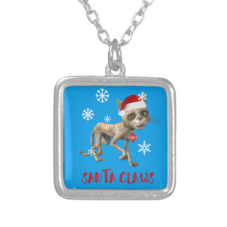 SANTA CLAWS! SILVER PLATED NECKLACE