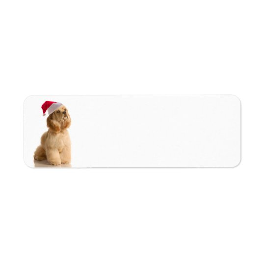 Santa Cocker Return Address Labels