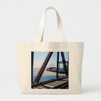 Santa Cruz Beach/Boardwalk Ferris Wheel Large Tote Bag