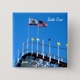 Santa Cruz Coaster 2 Inch Square Button