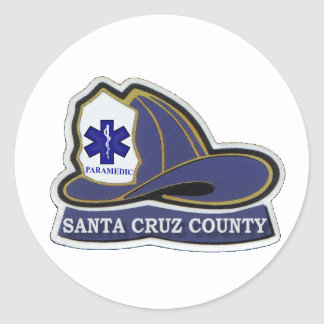 Santa Cruz County Paramedic Helmet Sticker