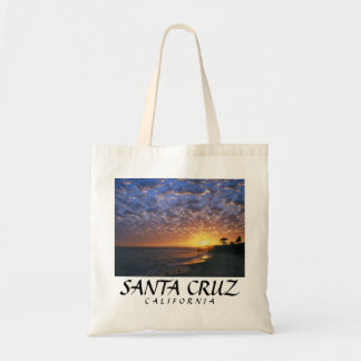 Santa Cruz its beach sunset Tote Bag