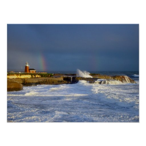 Santa Cruz Lighthouse Rainbow II - Print
