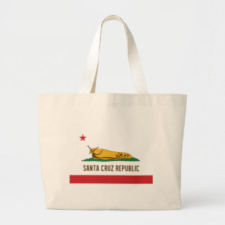 Santa Cruz Republic Banana Slug Flag Large Tote Bag