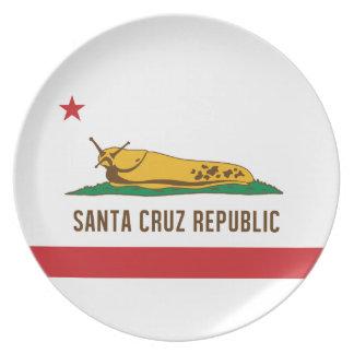 Santa Cruz Republic Banana Slug Flag Plate