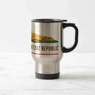 Santa Cruz Republic Banana Slug Flag Travel Mug