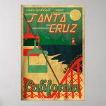 Santa Cruz Retro Poster