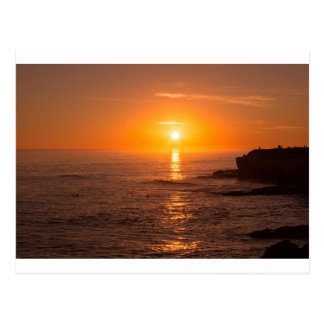 Santa Cruz Sunset Postcard