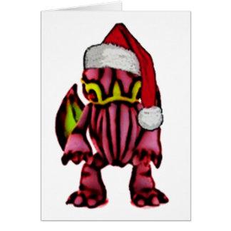 Santa Cthulhu Card