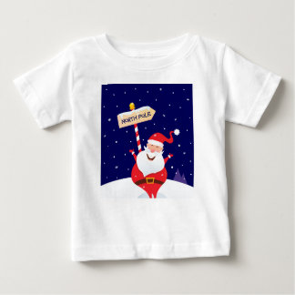 Santa cute red on white baby T-Shirt