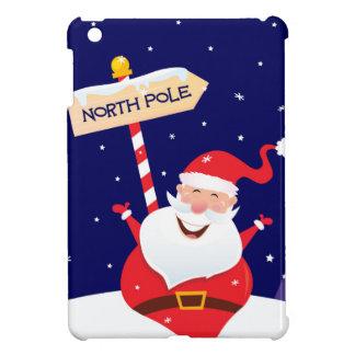 Santa cute red on white case for the iPad mini