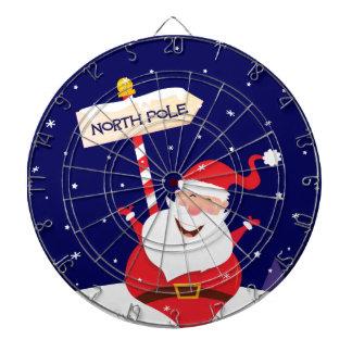 Santa cute red on white dartboard