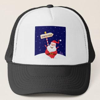 Santa cute red on white trucker hat